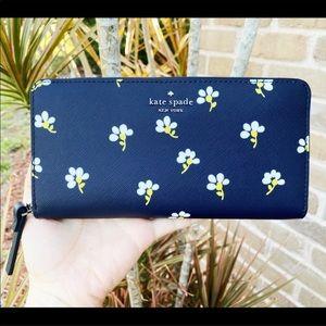 Kate Spade Floral Large Zip-Around Wallet